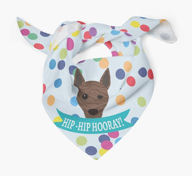 'Hip-Hip Hooray!'' Bandana with Basenji Icon