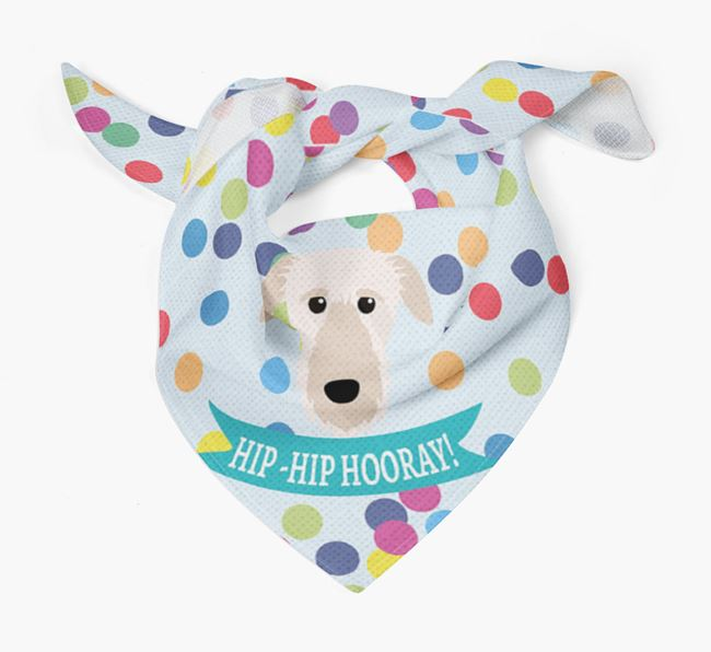 'Hip-Hip Hooray!'' Bandana with Deerhound Icon