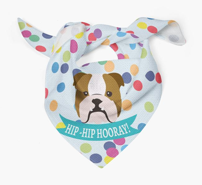 'Hip-Hip Hooray!'' Bandana with Dog Icon