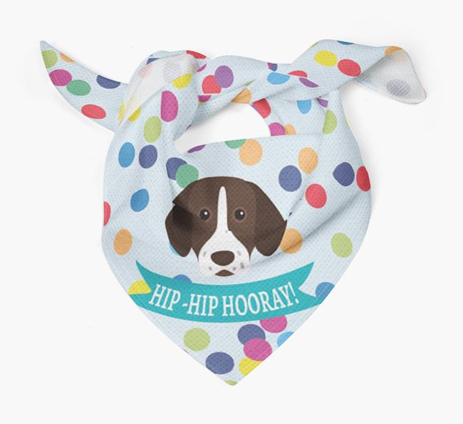 'Hip-Hip Hooray!'' Bandana with German Shorthaired Pointer Icon