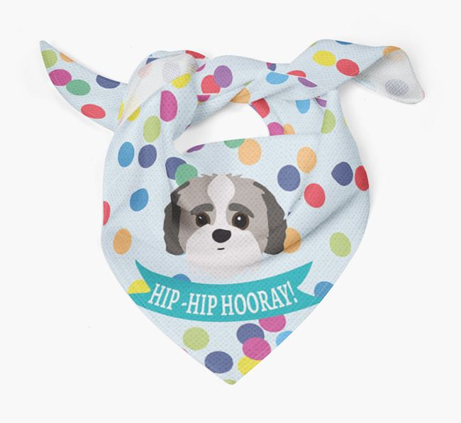 'Hip-Hip Hooray!'' Bandana with Jack-A-Poo Icon