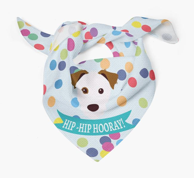 'Hip-Hip Hooray!'' Bandana with Parson Russell Terrier Icon
