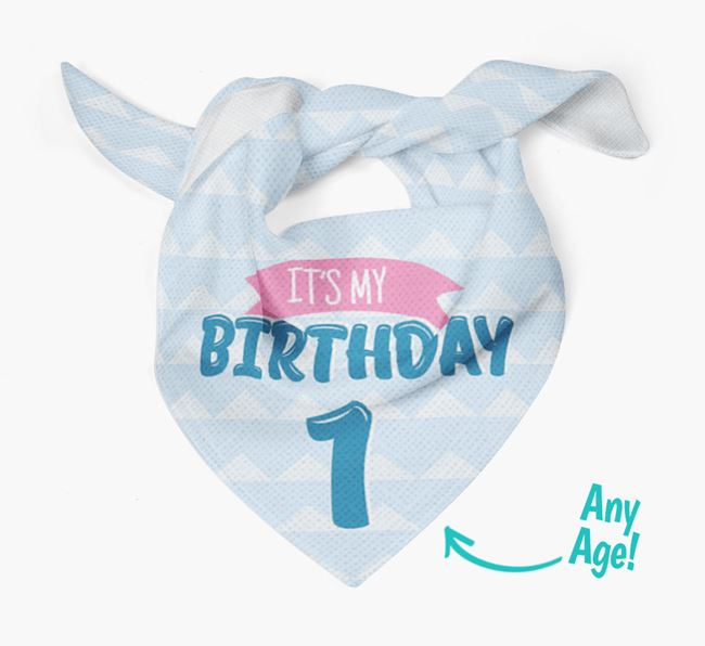 'It's My Birthday' Bandana for your Greek Harehound