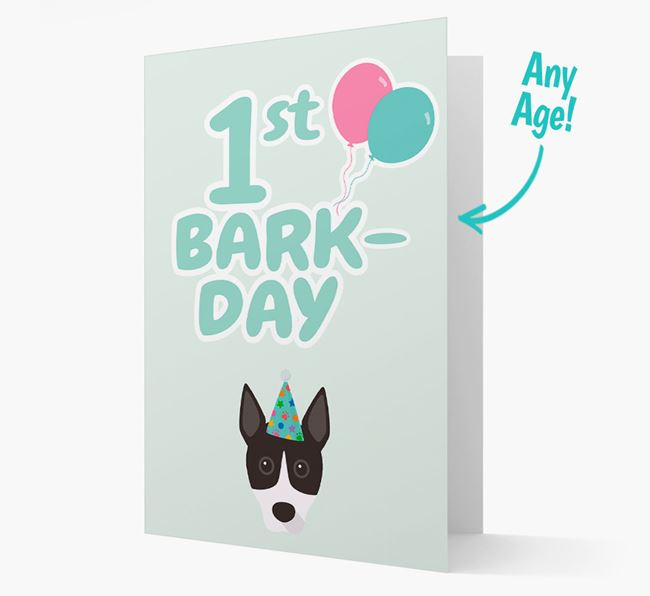 'Ages 1-18' Bark-day Card with Basenji Icon