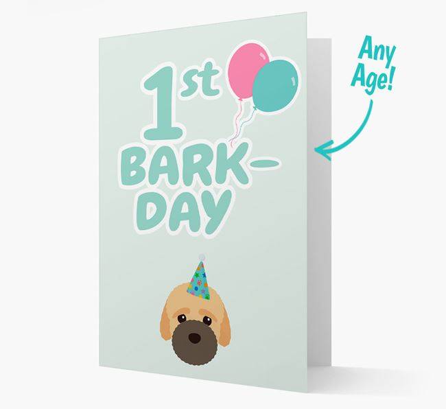'Ages 1-18' Bark-day Card with Bich-poo Icon
