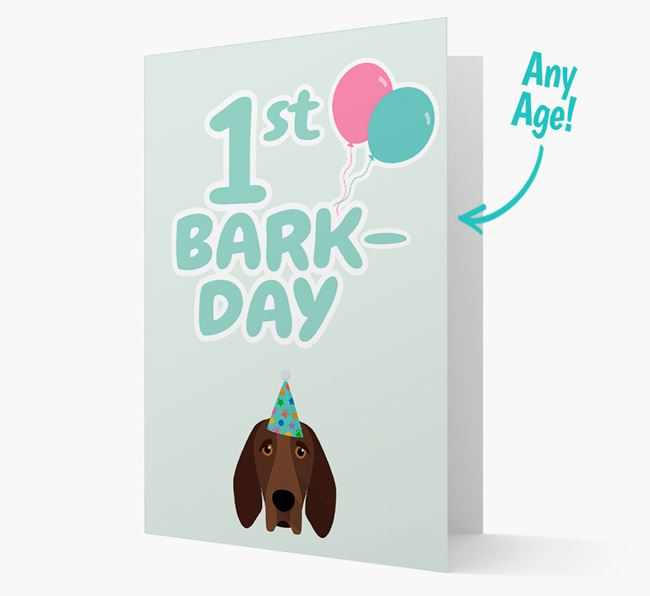 'Ages 1-18' Bark-day Card with Bracco Italiano Icon