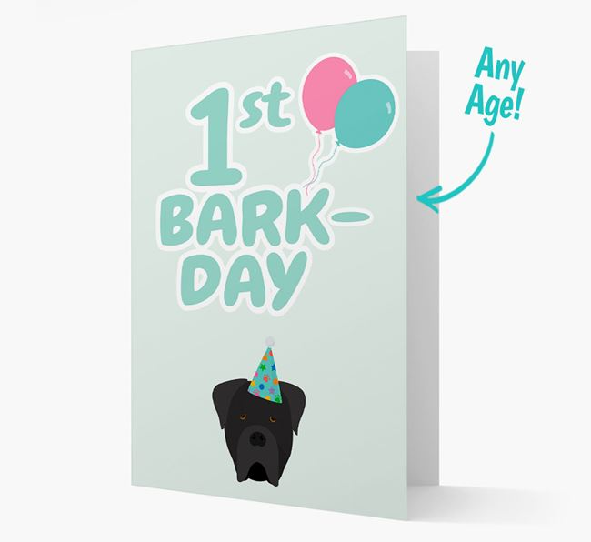 'Ages 1-18' Bark-day Card with Cane Corso Italiano Icon