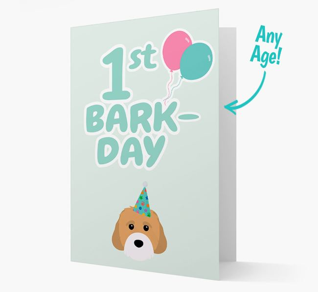 'Ages 1-18' Bark-day Card with Cavachon Icon