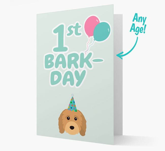 'Ages 1-18' Bark-day Card with Cavapoo Icon
