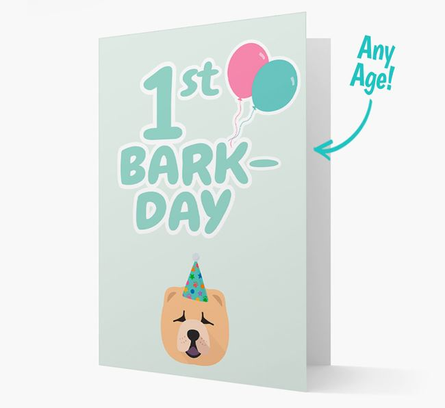 'Ages 1-18' Bark-day Card with Chow Chow Icon