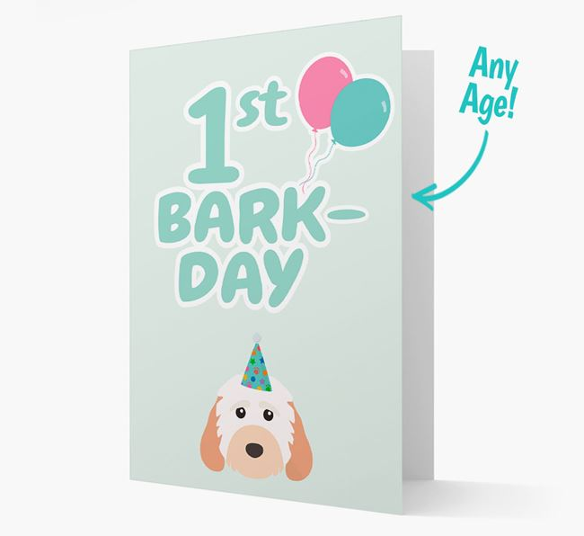 'Ages 1-18' Bark-day Card with Cockapoo Icon