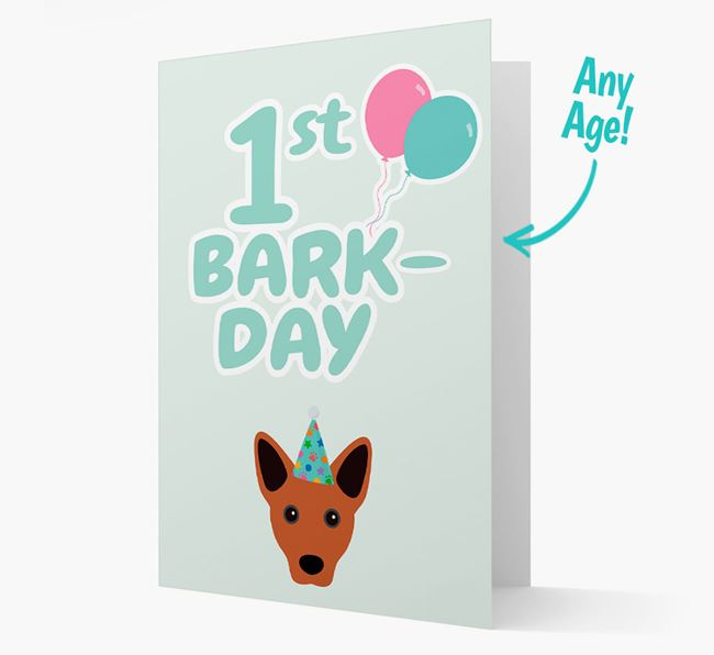 'Ages 1-18' Bark-day Card with Cojack Icon