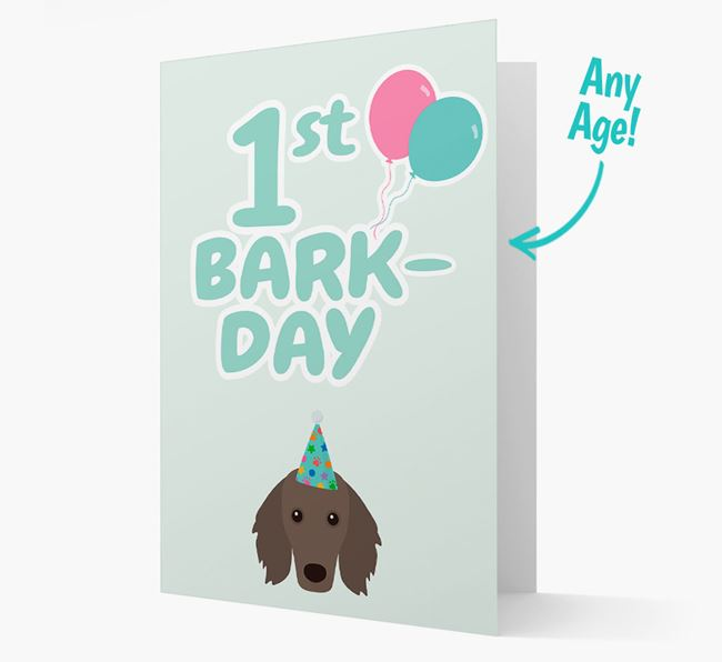 'Ages 1-18' Bark-day Card with Dachshund Icon