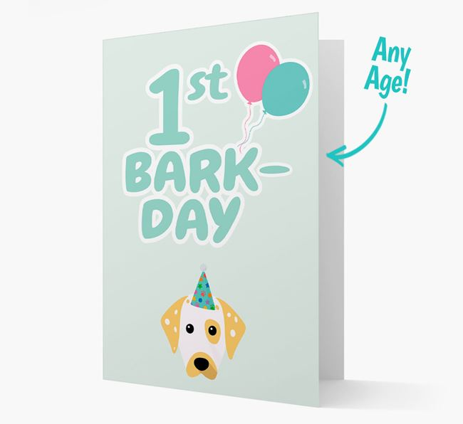 'Ages 1-18' Bark-day Card with Dalmatian Icon