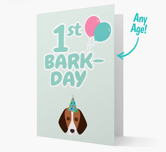 'Ages 1-18' Bark-day Card with Foxhound Icon