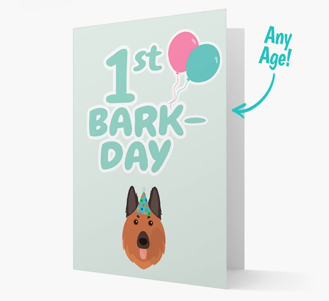 'Ages 1-18' Bark-day Card with German Shepherd Icon