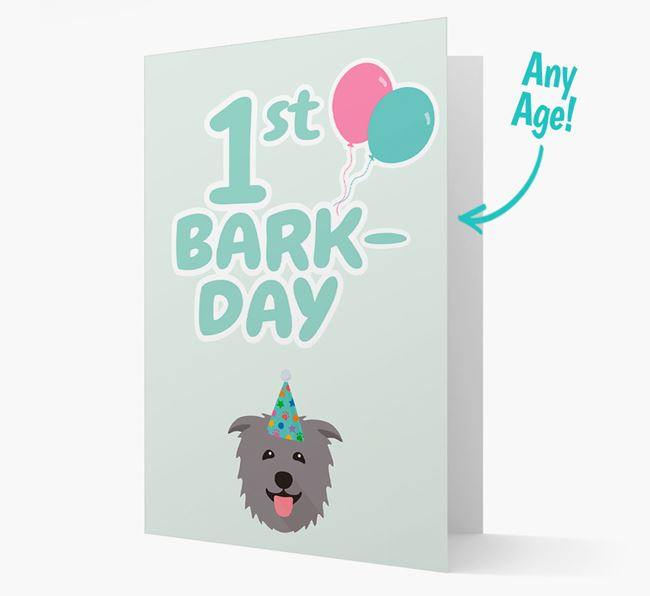 'Ages 1-18' Bark-day Card with Glen Of Imaal Terrier Icon