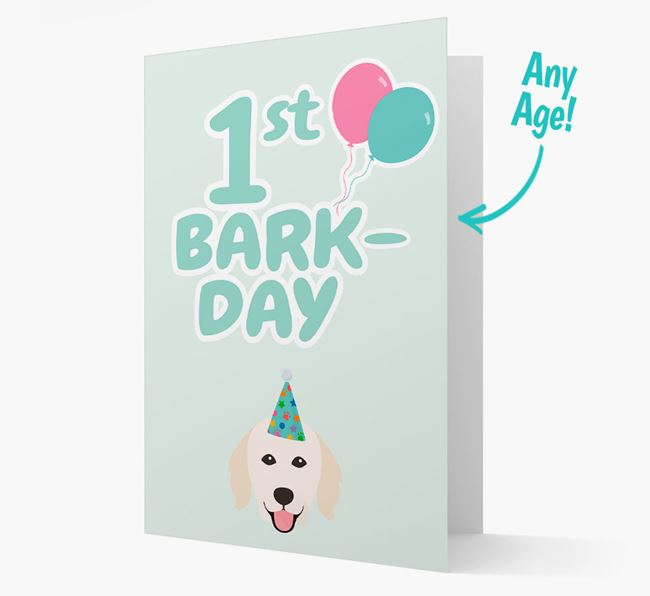 'Ages 1-18' Bark-day Card with Hungarian Kuvasz Icon
