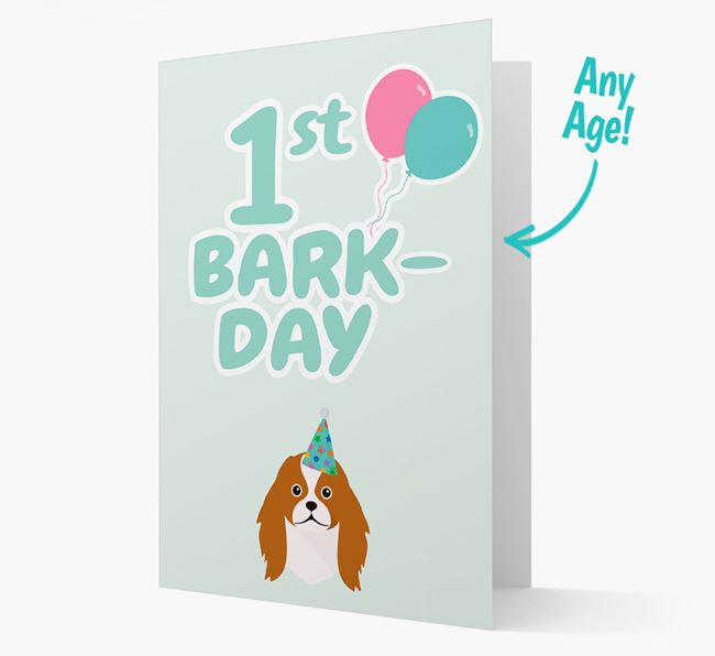 'Ages 1-18' Bark-day Card with Japanese Chin Icon