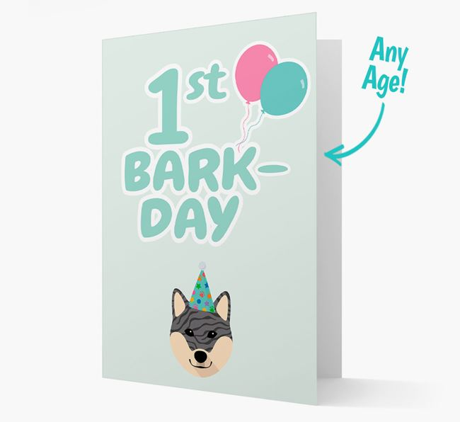 'Ages 1-18' Bark-day Card with Japanese Shiba Icon