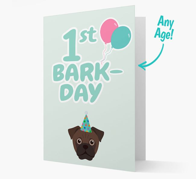 'Ages 1-18' Bark-day Card with Jug Icon
