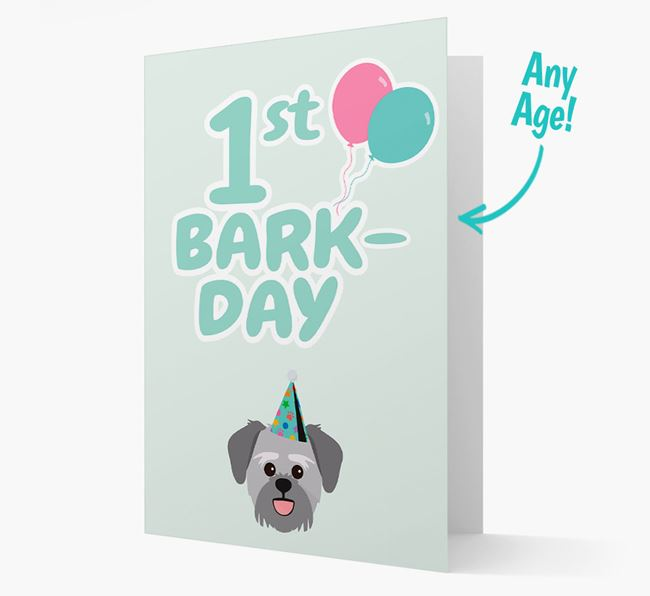 'Ages 1-18' Bark-day Card with Lachon Icon