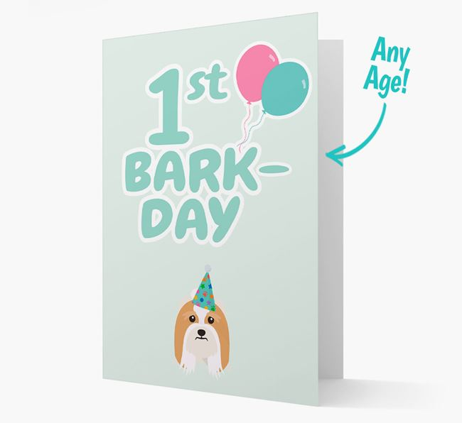'Ages 1-18' Bark-day Card with Lhasa Apso Icon