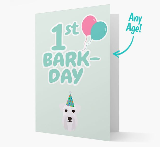 'Ages 1-18' Bark-day Card with Miniature Schnauzer Icon