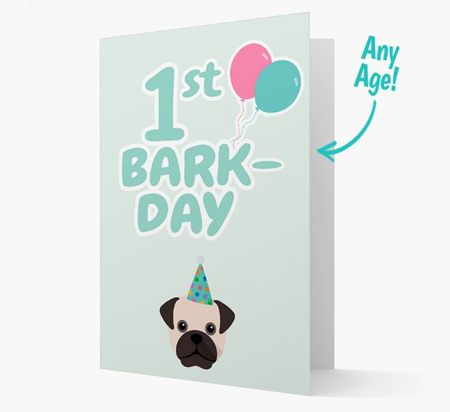 'Ages 1-18' Bark-day Card with Mixed Breed Icon