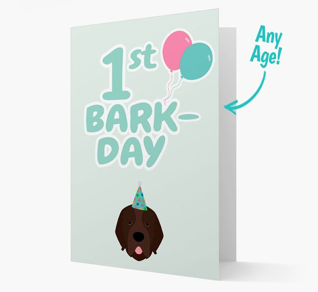 'Ages 1-18' Bark-day Card with Newfoundland Icon