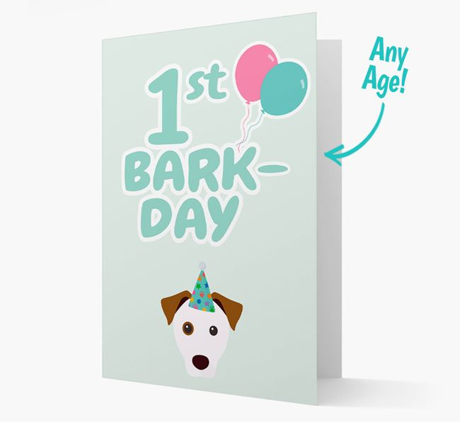 'Ages 1-18' Bark-day Card with Parson Russell Terrier Icon