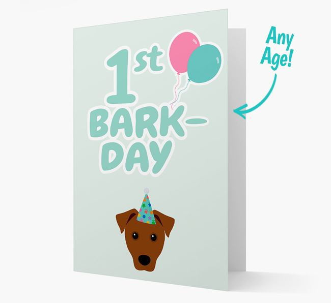'Ages 1-18' Bark-day Card with Patterdale Terrier Icon