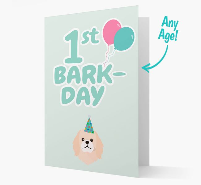 'Ages 1-18' Bark-day Card with Pekingese Icon