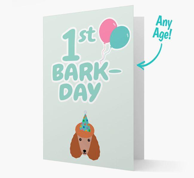 'Ages 1-18' Bark-day Card with Poodle Icon