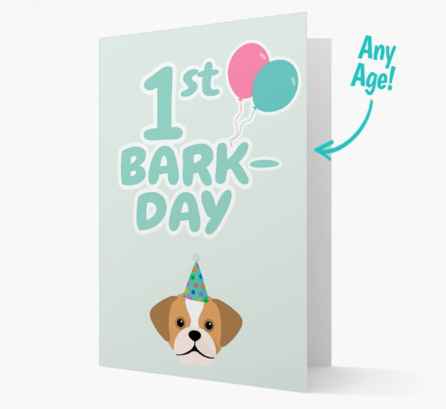 'Ages 1-18' Bark-day Card with Puggle Icon