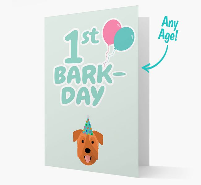 'Ages 1-18' Bark-day Card with Rescue Dog Icon