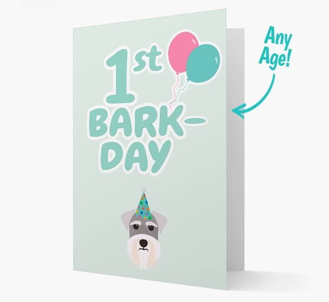 'Ages 1-18' Bark-day Card with Schnauzer Icon