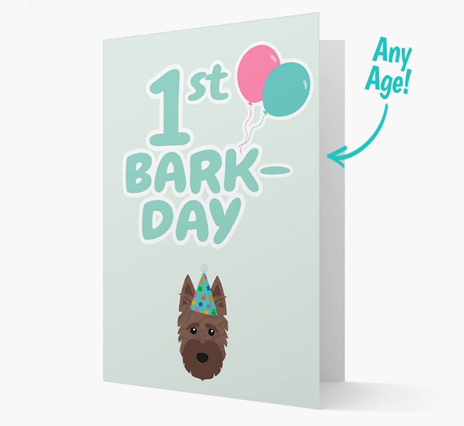'Ages 1-18' Bark-day Card with Scottish Terrier Icon