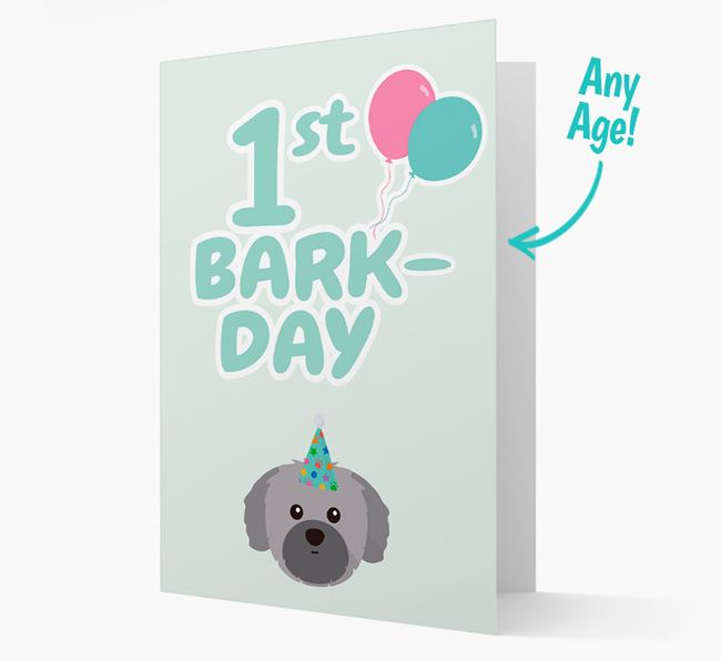 'Ages 1-18' Bark-day Card with Shih Tzu Icon