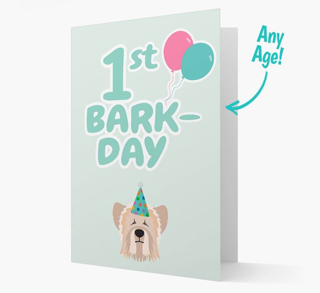 'Ages 1-18' Bark-day Card with Skye Terrier Icon