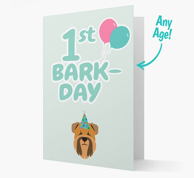'Ages 1-18' Bark-day Card with Soft Coated Wheaten Terrier Icon