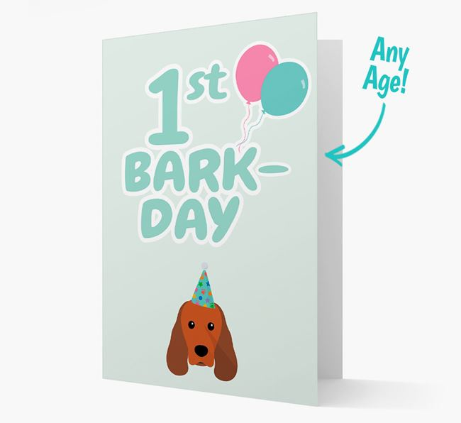 'Ages 1-18' Bark-day Card with Sprocker Icon