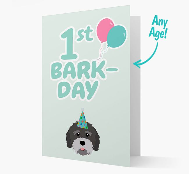 'Ages 1-18' Bark-day Card with Tibetan Terrier Icon