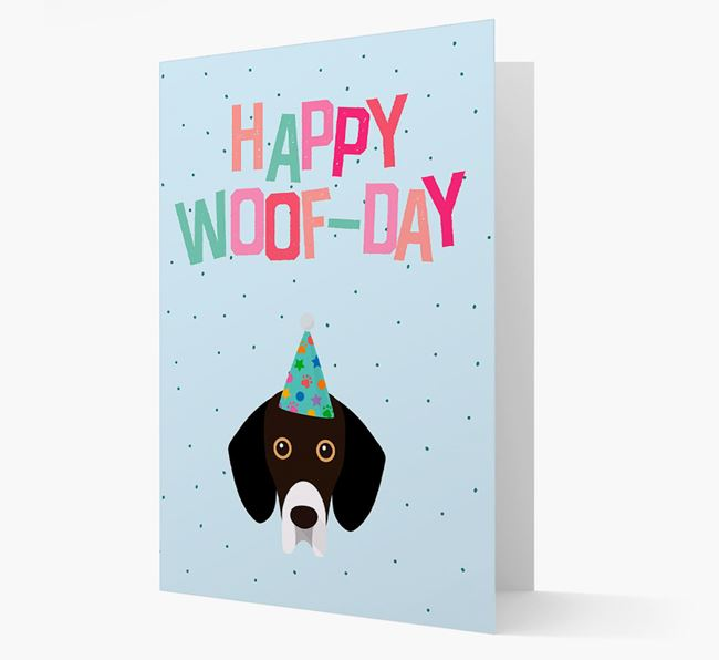 'Happy Woofday' Card with Bassador Icon