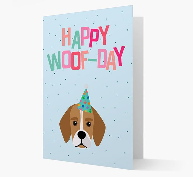 'Happy Woofday' Card with Bassugg Icon