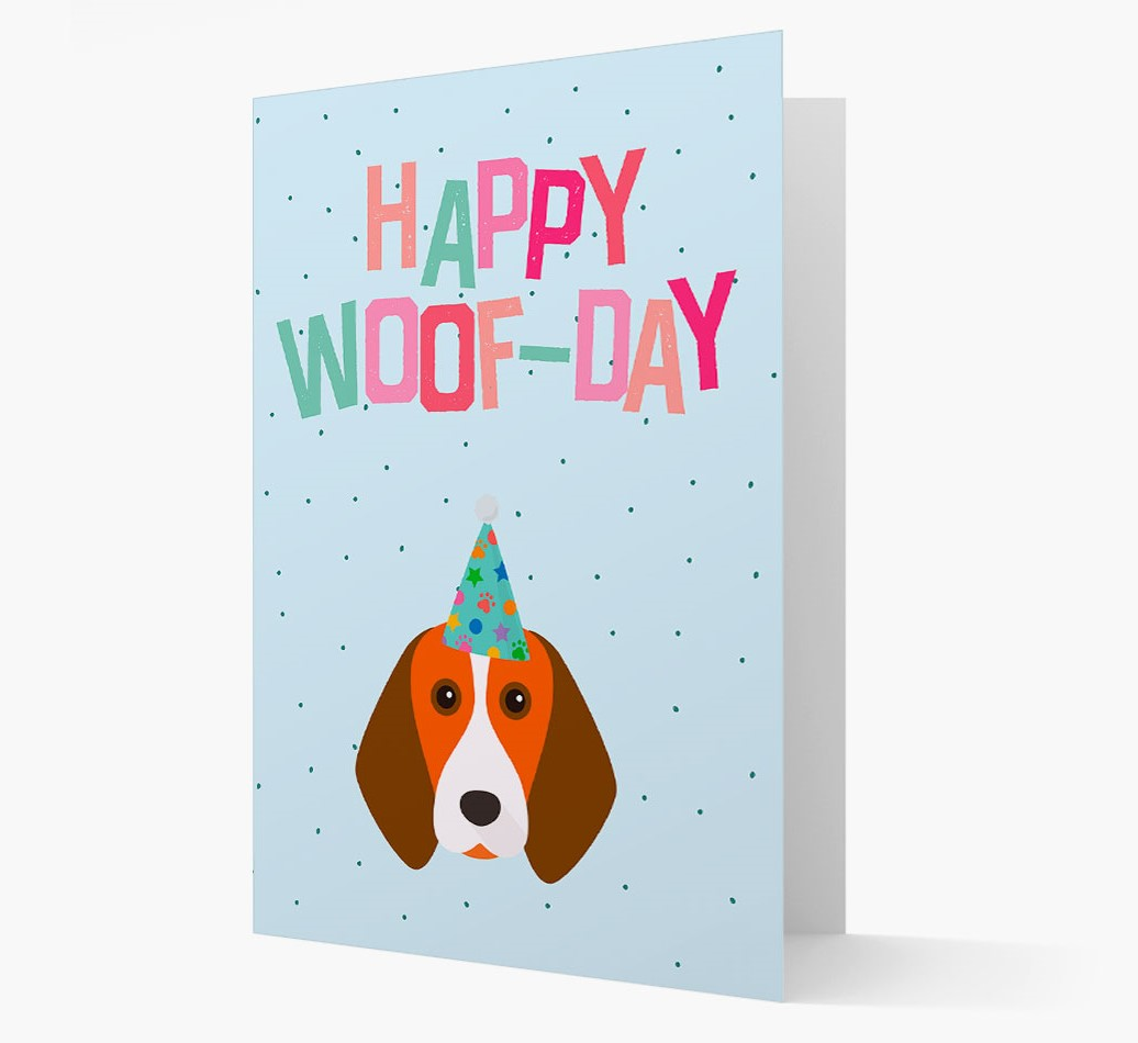'Happy Woofday' Card with Beagle Icon
