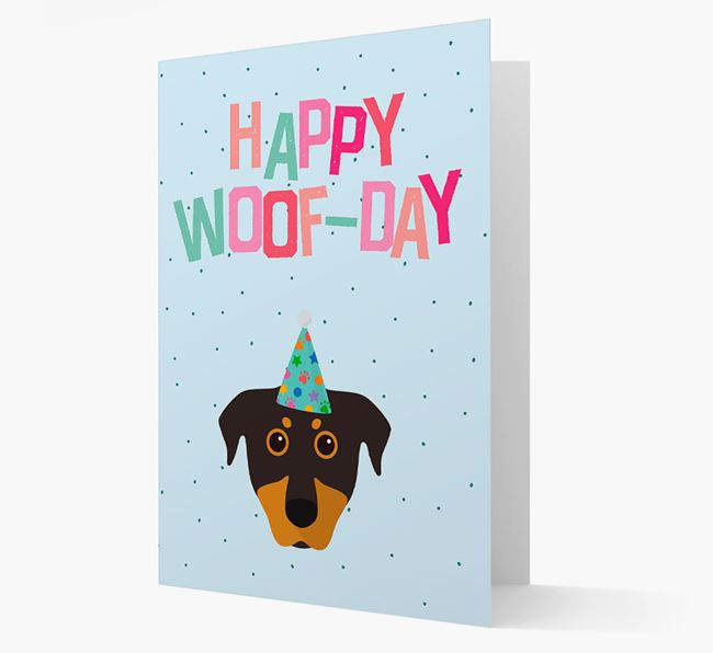 'Happy Woofday' Card with Beauceron Icon