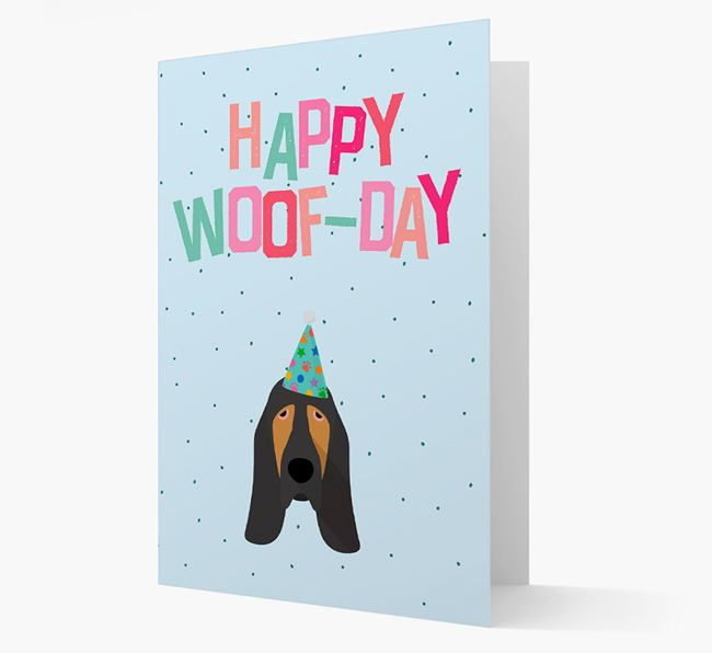 'Happy Woofday' Card with Bloodhound Icon