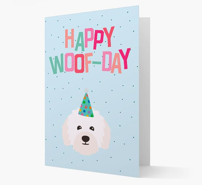 'Happy Woofday' Card with Bolognese Icon