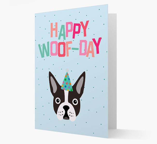 'Happy Woofday' Card with Dog Icon